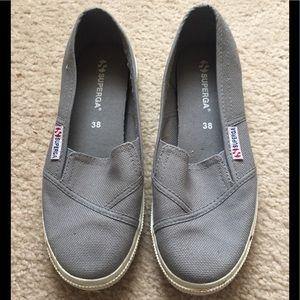 Superga Grey sage 2210 COTW slip on size 38/8